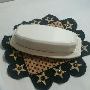 Pfaltzgraff Heritage butter dish.  (2 pcs)